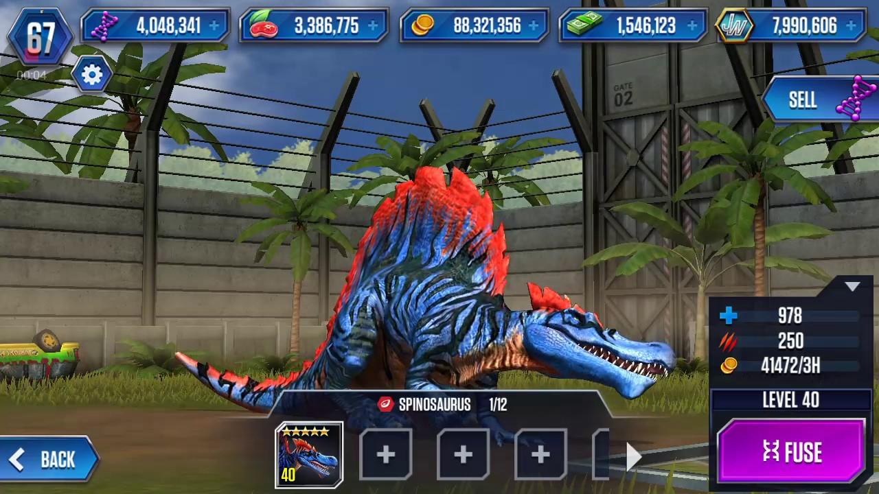 Jurassic World: The Game || LEVEL 40 SPINOSAURUS ...