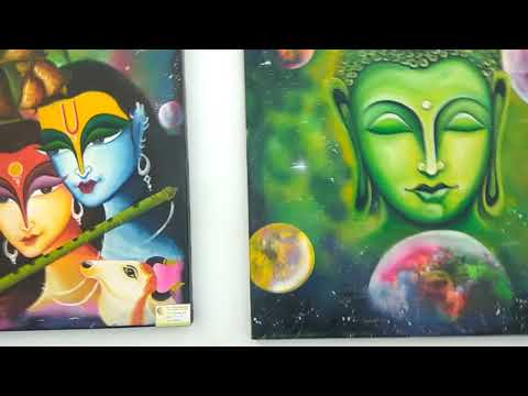Painting exhibition at Indore airport