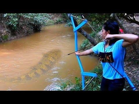 İNANILMAZ KIZ PVC ile Yaptığı YAYLA Balık AVLIYOR
