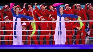Watch amazing North Korean cheerleaders at work