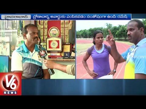 Athletics Coach Nagapuri Ramesh Face To Face | Dronacharya Award Winner | V6 News