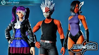 JUMP FORCE - NEW OPEN BETA CUSTOM CHARACTERS GAMEPLAY! ALL NEW Custom Character Avatars (PS4)