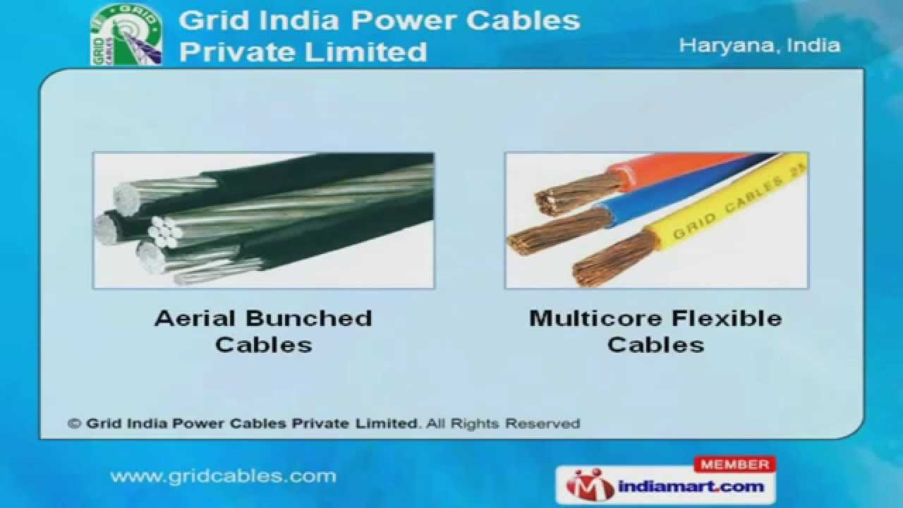 Power cable armoured unarmoured pvc xlpe by grid india power cables private limited gurgaon youtube