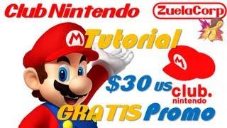 [TUTORIAL] Club Nintendo Promo $30 Dolares Eshop Gratis TUTORIAL (Español) 16/08/2013