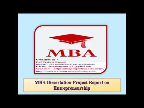 mba summer internship project report doc