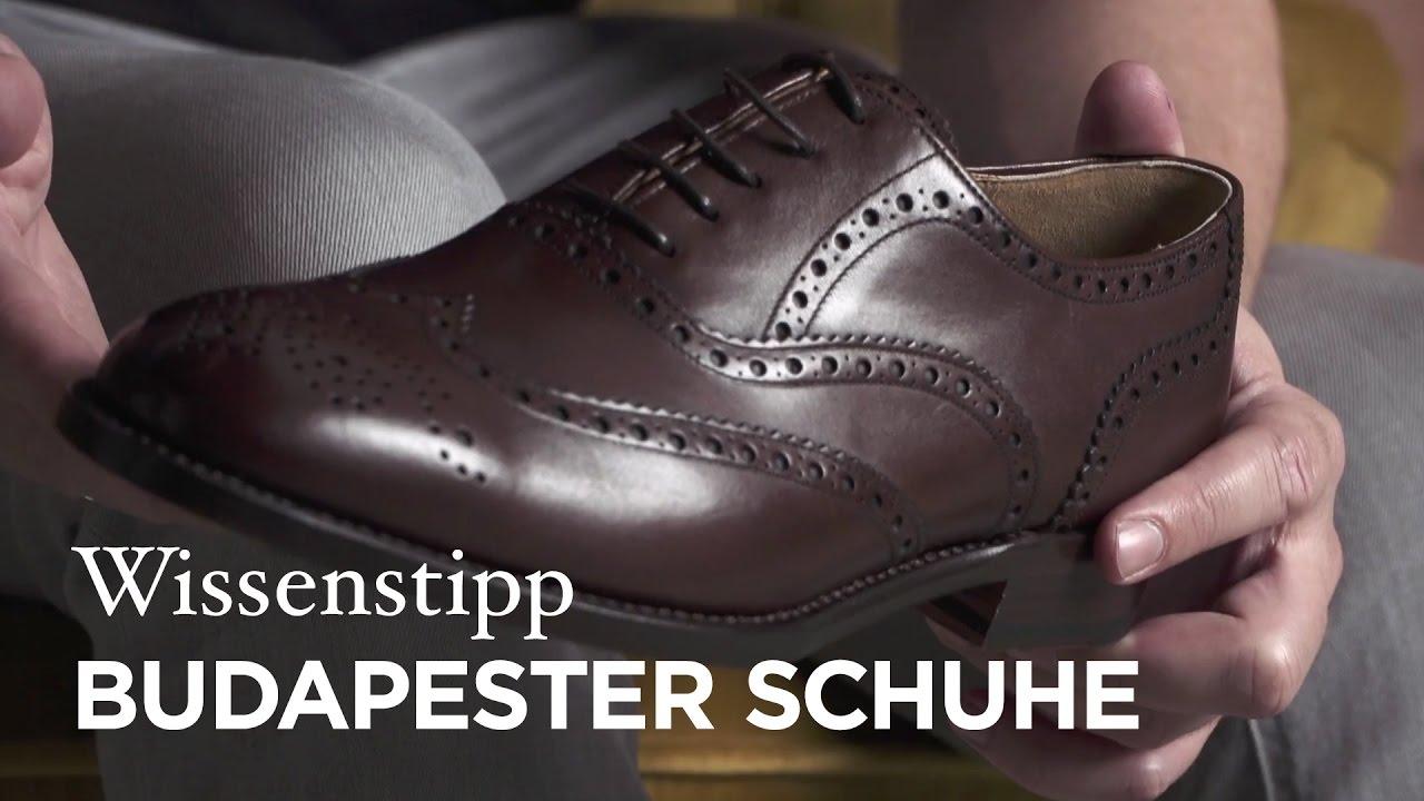 best website 6c91c aa9e6 Wissenstipp - Budapester Schuhe