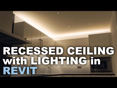 Recessed Ceiling with Light in Revit * Light Tutorial *