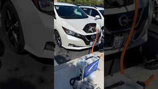 Gambar cover Vehicle to Home (V2H) demo with a Model Year 2018 Nissan LEAF