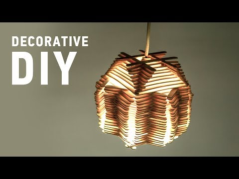 DIY Crafts with Popsticks: Easy Decorative Lamp Shades