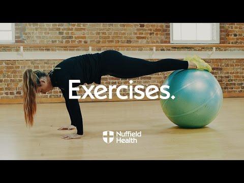 Swiss Ball Knee Tuck   Nuffield Health