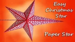 Christmas Star Making at home by Art/Chart paper || Christmas Star Lanterns Tutorial - step by step