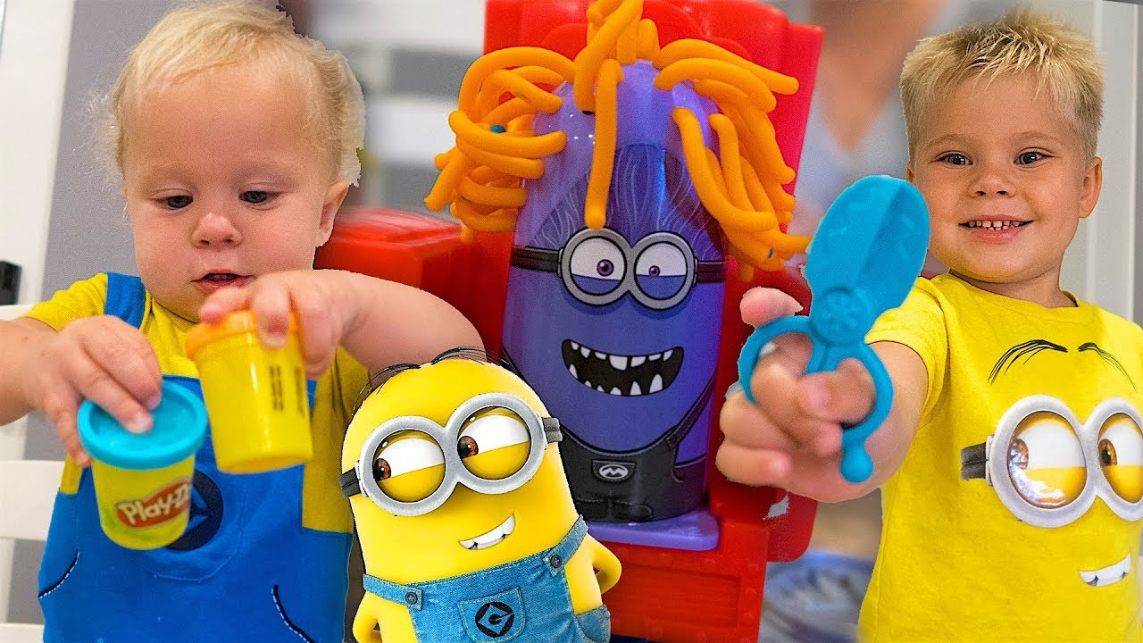 Minion Play Doh Haircut Takeover Youtube