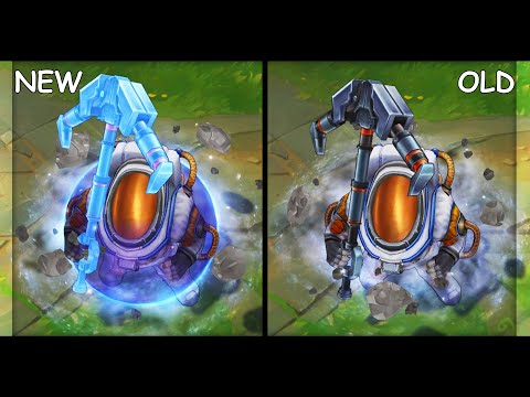 All Nautilus Skins VFX Update NEW and OLD (League of Legends)