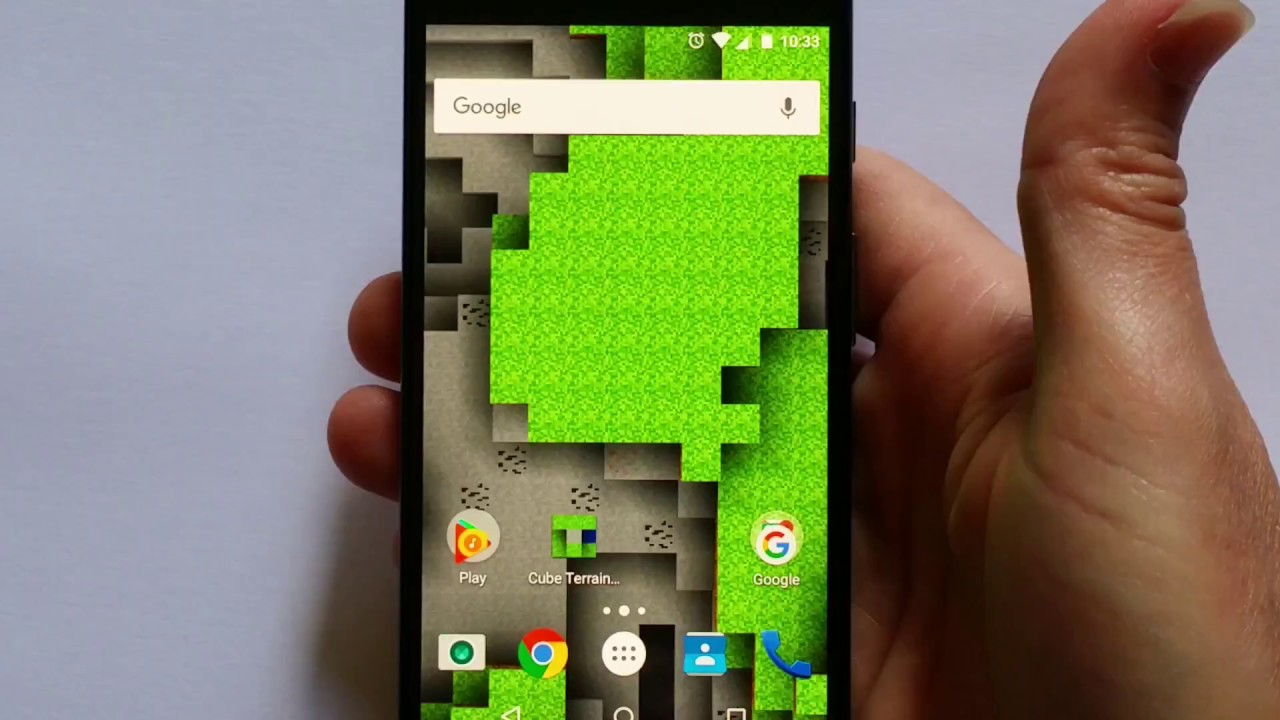 Minecraft Live Wallpaper For Android 3d Holographic