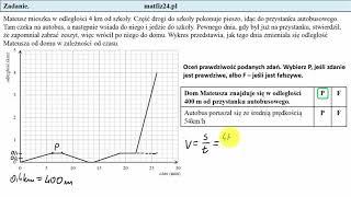 Egzamin ósmoklasisty. Zadanie 14. Droga i prędkość | MatFiz24.pl