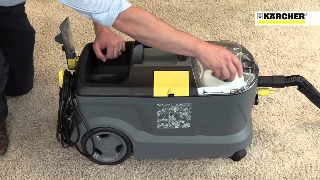 karcher puzzi 10 1 spray extraction cleaner youtube. Black Bedroom Furniture Sets. Home Design Ideas