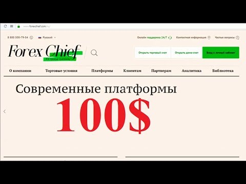 Бездепозитный бонус 100$ от брокера ForexChief