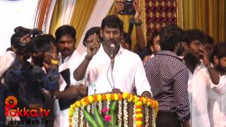 Vishal Speech at Film Producers council members Introductory