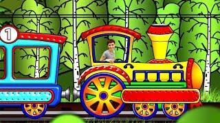 Çocuklar için çizgi film: Maria ve Billy. Treni yapalım! Araba dönüştürme oyunları.