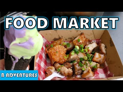 Asian Ice Cream + Lechon, Enlighten Food Market, AU Vlog #39