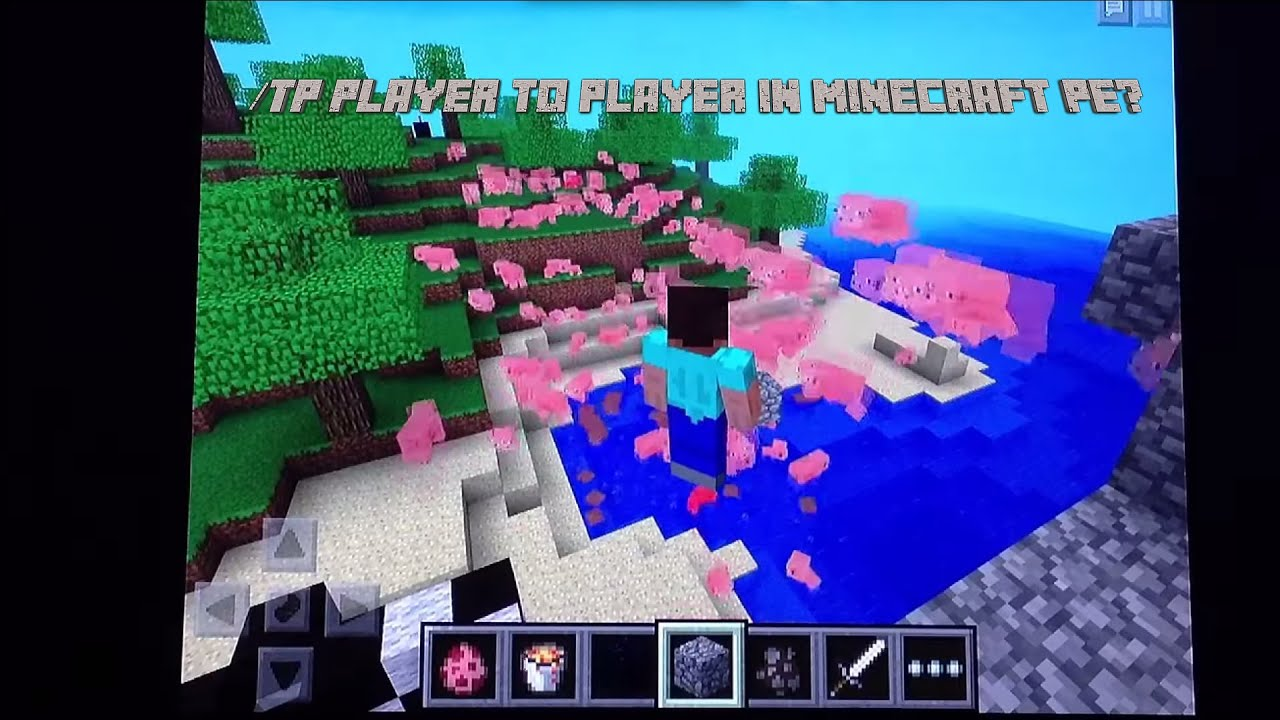 Tp Player To Player In Minecraft PE YouTube - Minecraft zu spieler teleportieren