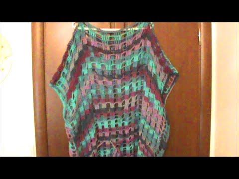 6aa06a0beba9 Πλεκτό τρυπητό μπλουζοφόρεμα - YouTube
