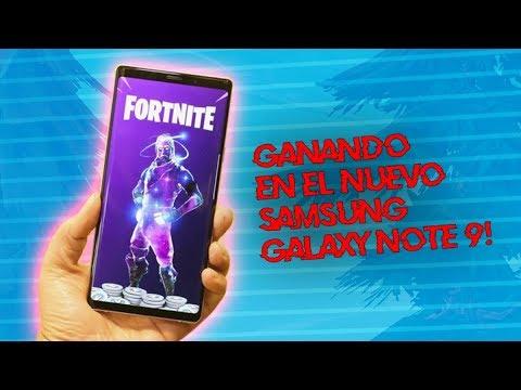 💀 ¡GANANDO CON EL NUEVO SAMSUNG GALAXY NOTE 9! 💀 ~ FORTNITE
