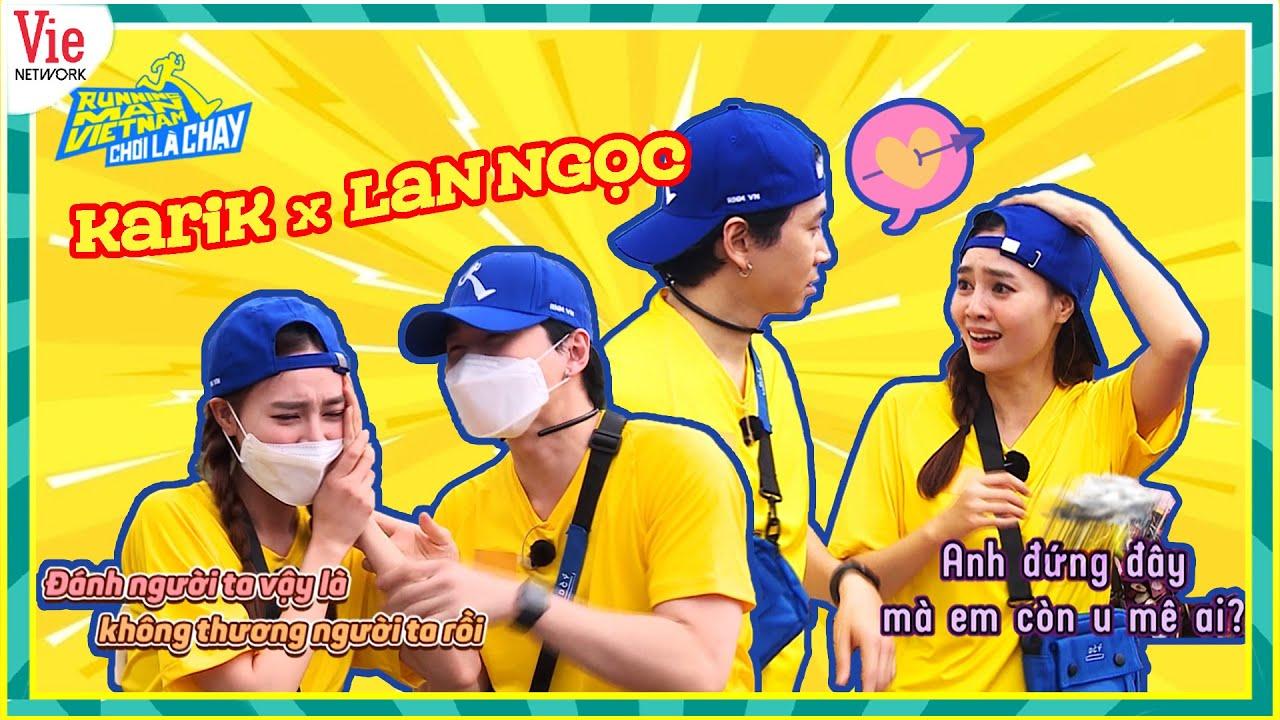 Karik - Lan Ngọc tình thế này có tạo nên loveline mới?   Chơi Là Chạy   Running Man Việt Nam mùa 2