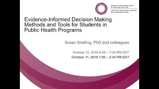 Evidence-Informed Decision Making Methods and Tools for Students in Public Health Programs