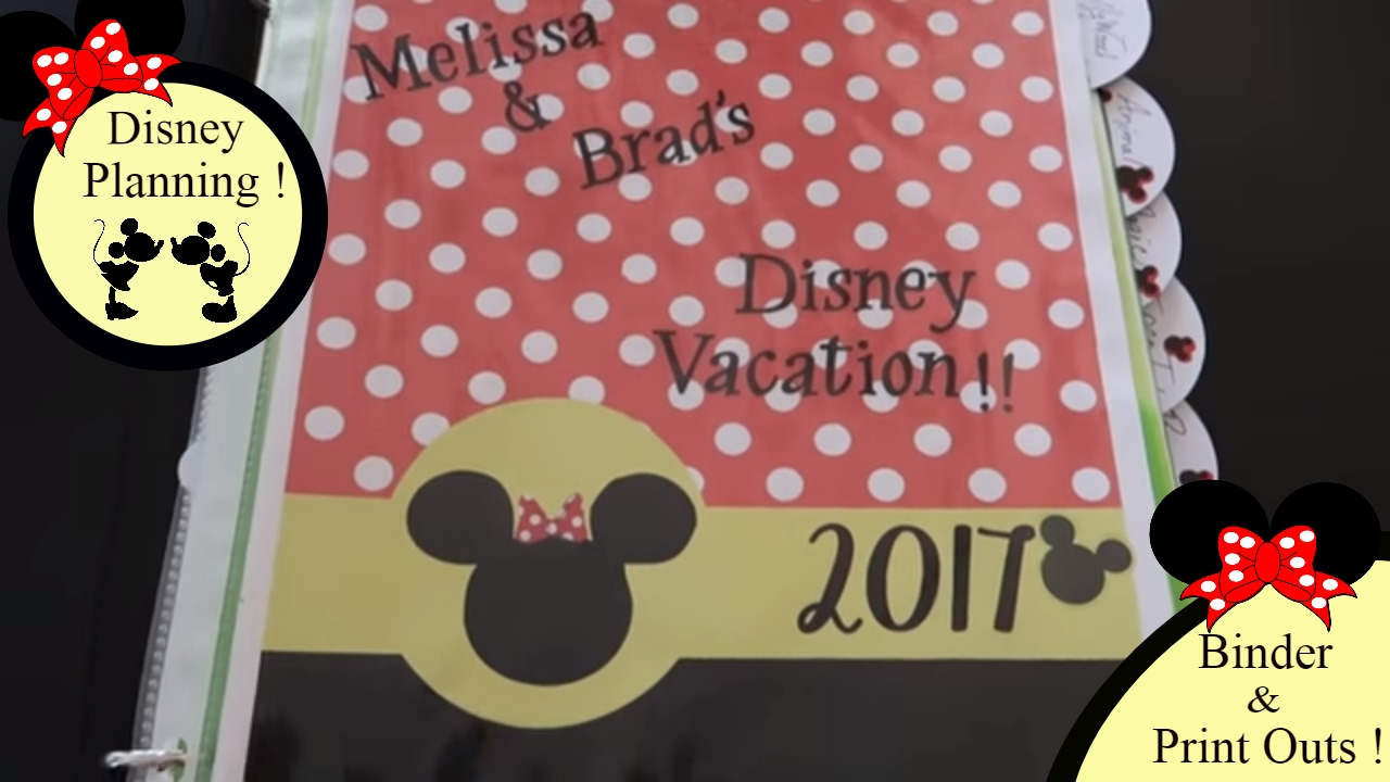 Disney World Binder Cover