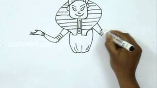 How to Draw an Egyptian Pharaoh King