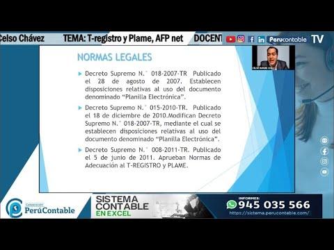 T-registro y Plame, AFP net