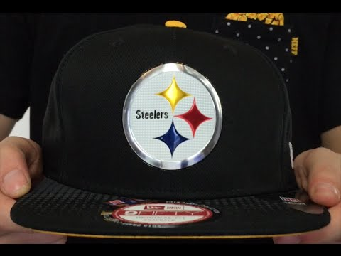 c550252e2e6 Steelers  2015 NFL DRAFT SNAPBACK  Black Hat by New Era - YouTube