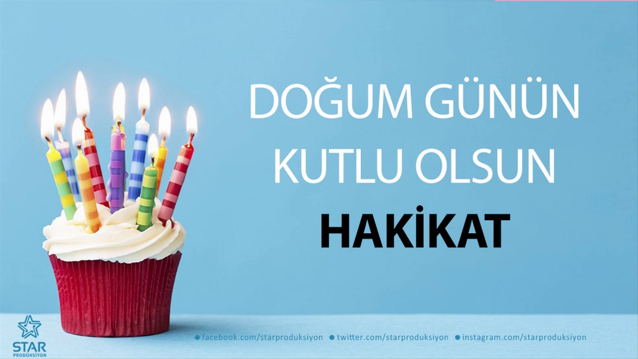 Iyi Ki Dogdun Hakikat Isme Ozel Dogum Gunu Sarkisi Youtube