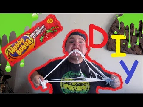 DIY edable hubba bubba slime!!!!!!!