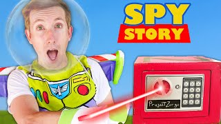 RED SAFE BLOWN OPEN! Spy Ninjas Playing Toy Story Challenges vs Hacker to Sneak into Friend Game