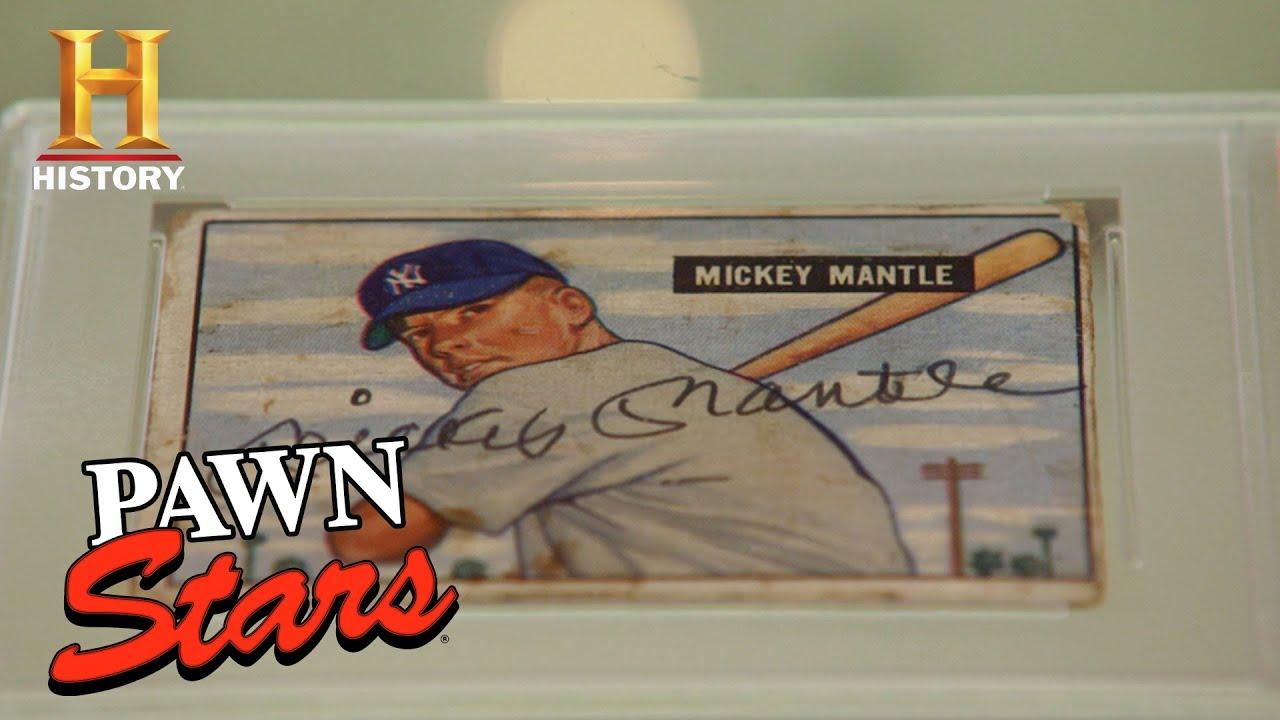 Pawn Stars Mickey Mantles Rookie Card Season 16 History