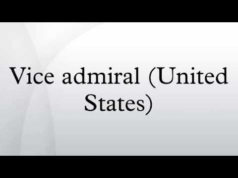 Vice admiral (United States)