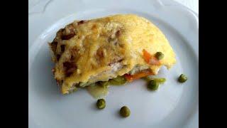 Рыбка под сырной корочкой на овощной подушке Очень нежная и сочная рыбка пикантные овощи