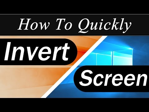 How To Quickly: Invert the Colors In Windows 10 (Keyboard Shortcut)