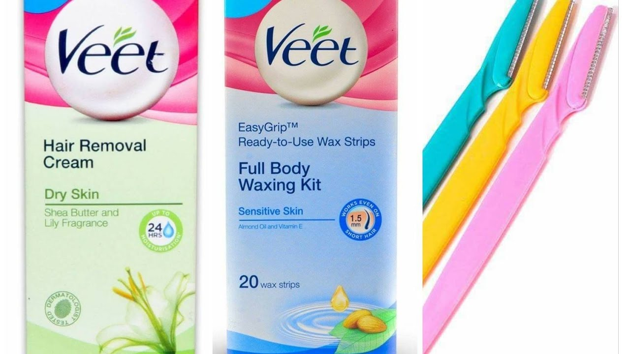 Veet Cream Veet Wax Strips Razors Facial Hair Removal At Home