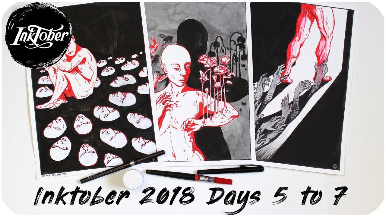 Inktober 2018 Days 5 To 7