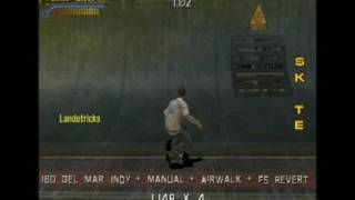 Tony Hawks Pro Skater 3 Foundry, one attempt, all targets