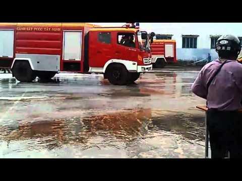 Dien tap PCCC nam 2012 tai nha may Soi 4, Cty CP Det May DT TM Thanh Cong, tai khu CN Trang Bang   Tay Ninh