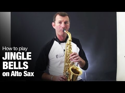 Saxophone Lesson - Jingle Bells -  How to play Christmas songs on Alto Saxophone