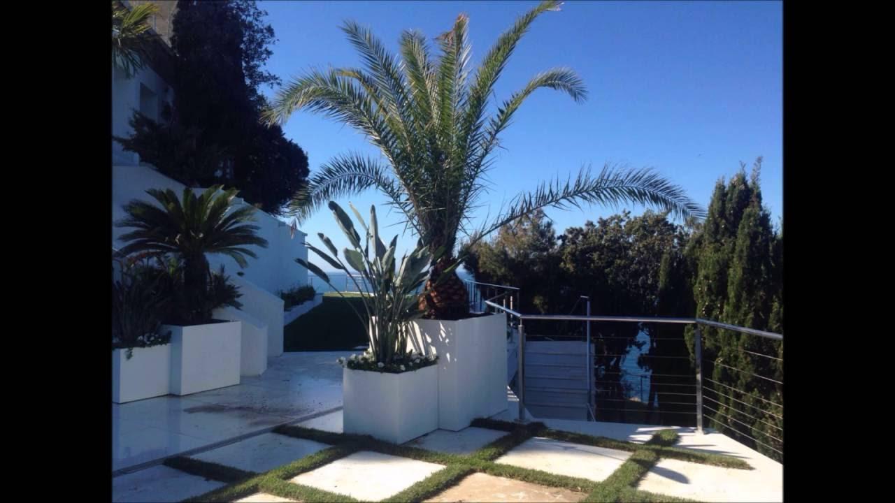 Fioriere con palme terrazzo marina di grosseto youtube for Vaso attico
