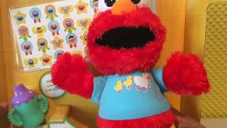 Unboxing Elmo va al baño y canta, Plaza Sésamo, Elmo en español