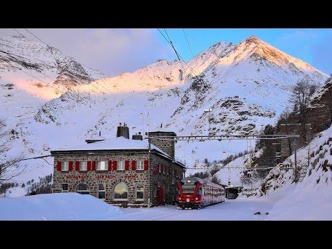 RhB - Rhätische Bahn - Winter am Bernina 2016 - Bernina Bahn