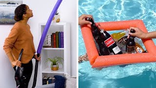 Use Your Noodle with These 10 Clever Pool Noodle Hacks! DIY Crafts and Life Hacks by Blossom