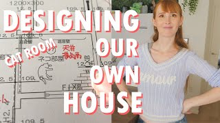 Our custom Japanese house plan (cat/living room) + Announcement!